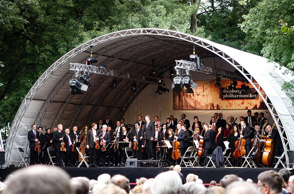 Die Duisburger Philharmoniker im Kantpark
