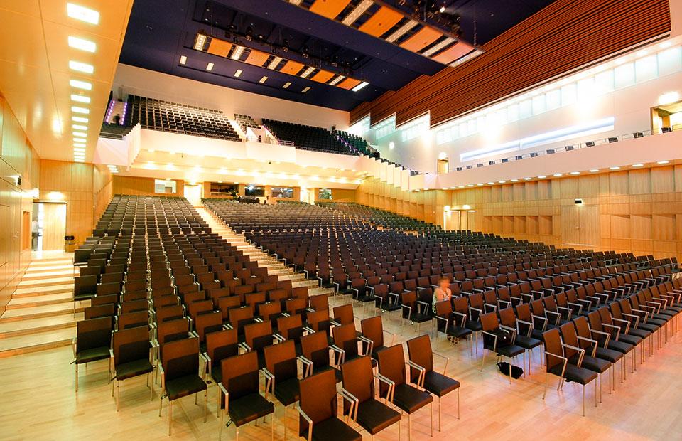 Philharmonie Mercatorhalle, Reihenbestuhlung