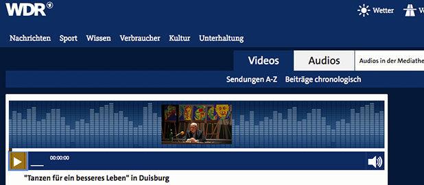 WDR 3: Gespräch zum Community-Tanzprojekt mit Dr. Wendel