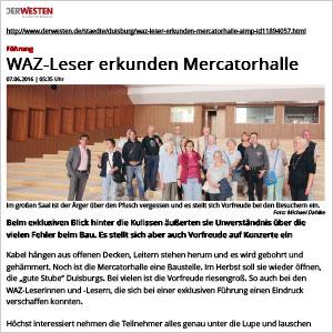 WAZ-Leser erkunden Mercatorhalle