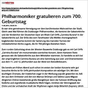 Philharmoniker gratulieren zum 700. Geburtstag
