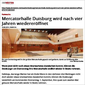 Mercatorhalle Duisburg wird nach vier Jahren wiedereröffnet