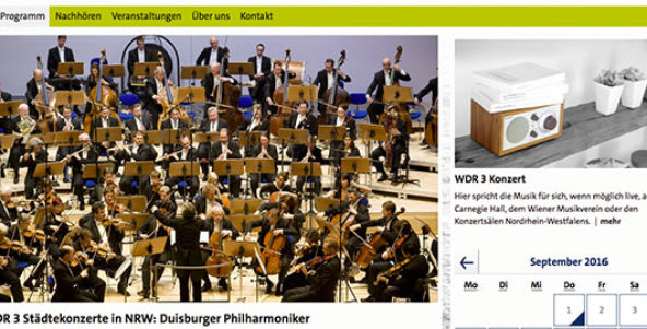 1. Philharmonisches Konzert als WDR 3 Städtekonzert