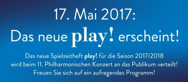 """17. Mai: Das neue """"play!"""" erscheint"""