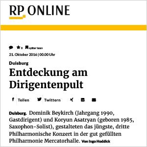 RP Online: Entdeckung am Dirigentenpult (3. Philharmonisches Konzert)