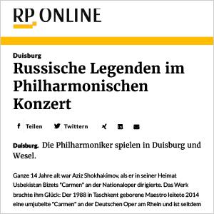 RP Online: Russische Legenden im Philharmonischen Konzert (4. Philharmonisches Konzert)