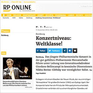 RP Online: Konzertniveau: Weltklasse! (5. Philharmonisches Konzert)