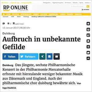 RP Online: Aufbruch in unbekannte Gefilde (6. Philharmonisches Konzert)