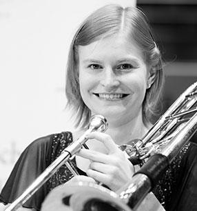 9. Philharmonisches Konzert 2017/18 · Louise Pollock Posaune · Foto: Susanne Diesner