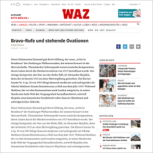 Bravo-Rufe und stehende Ovationen · WAZ vom 09.10.2017
