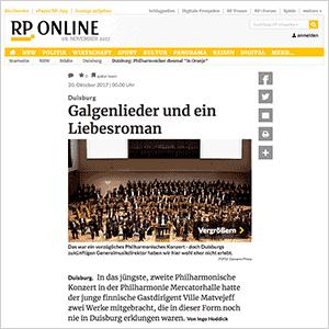 Galgenlieder und ein Liebesroman · RP Online vom 20.10.2017