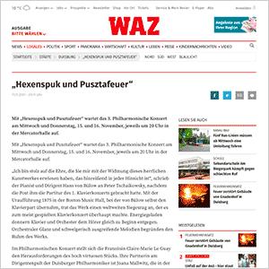 Hexenspuk und Pusztafeuer · WAZ vom 11.11.2017