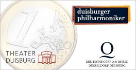 Jetzt auch in Duisburg! Studierende können Konzerte, Schauspiel- und Opernvorstellungen für nur 1,00 Euro besuchen.