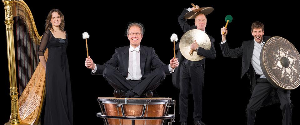 Duisburger Philharmoniker: Die Schlaginstrumente und Harfen