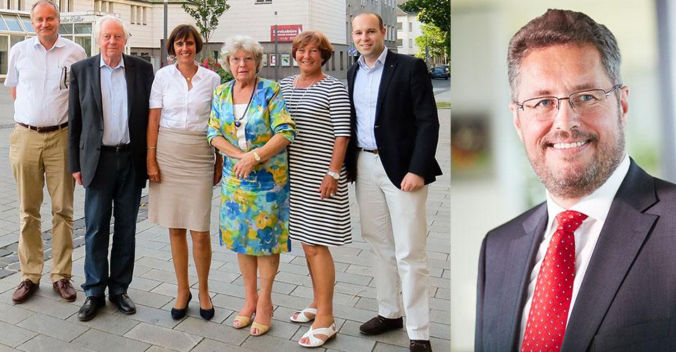Beirat der Gesellschaft der Freunde und Präsident Dr. Karl-Ulrich Köhler