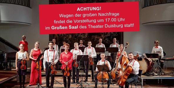 Neujahrskonzert des Salonorchesters um 17 Uhr im Großen Saal!
