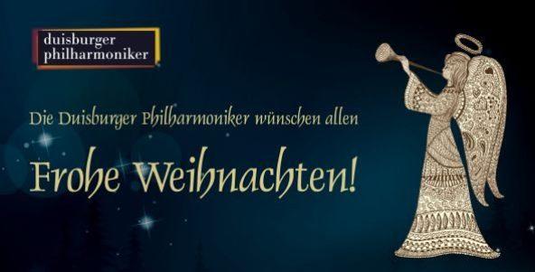 Die Duisburger Philharmoniker wünschen Frohe Weihnachten!