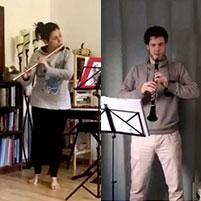 J. Ibert – II. Andante (Trois Pièces Brèves), gespielt von Alba Luna Sanz Juanes und Christoph Schneider