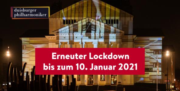 Erneuter Lockdown bis zum 10. Januar 2021