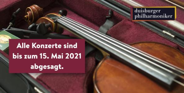Konzerte bis zum 15. Mai abgesagt