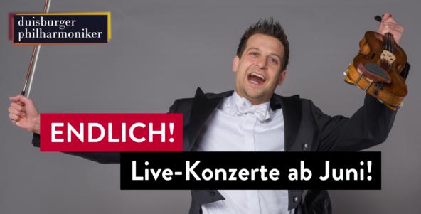 Große Freude: Endlich wieder Live-Konzerte ab Juni!