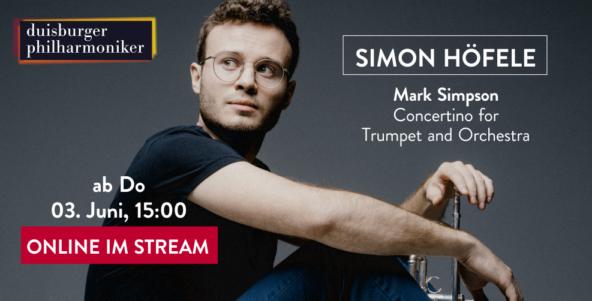 Im Stream: Simon Höfele spielt Welturaufführung