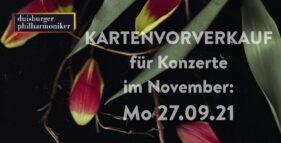 Der Kartenvorverkauf für Konzerte im November hat begonnen