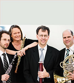 Bläserquartett der Duisburger Philharmoniker Foto: Mischa Blank